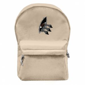 Backpack with front pocket Monster eye