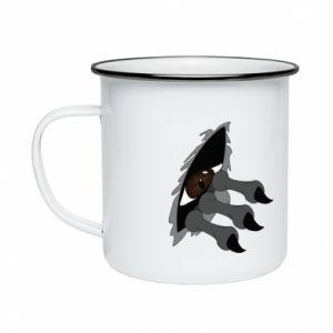 Enameled mug Monster eye