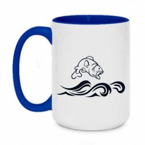 Two-toned mug 450ml Big fish perch