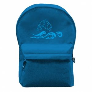 Plecak z przednią kieszenią Okoń wielkiej ryby