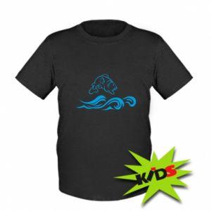 Kids T-shirt Big fish perch