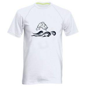 Men's sports t-shirt Big fish perch