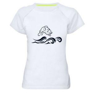 Women's sports t-shirt Big fish perch