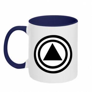 Two-toned mug Circles