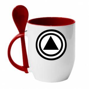 Mug with ceramic spoon Circles