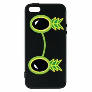 Etui na iPhone 5/5S/SE Okulary - Ananas