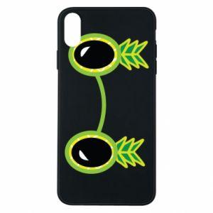 Etui na iPhone Xs Max Okulary - Ananas