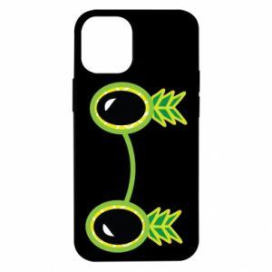 Etui na iPhone 12 Mini Okulary - Ananas