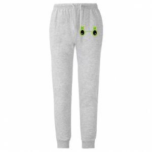 Męskie spodnie lekkie Okulary - Ananas - PrintSalon