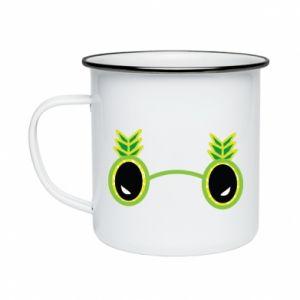 Kubek emaliowane Okulary - Ananas - PrintSalon