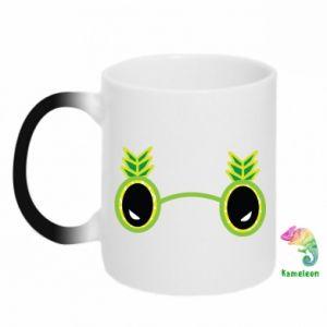 Kubek-kameleon Okulary - Ananas - PrintSalon
