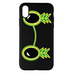 Etui na iPhone X/Xs Okulary - Ananas