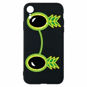 Etui na iPhone XR Okulary - Ananas