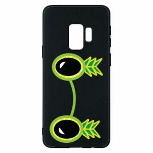Etui na Samsung S9 Okulary - Ananas