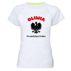 Women's sports t-shirt Olivia is a real Pole