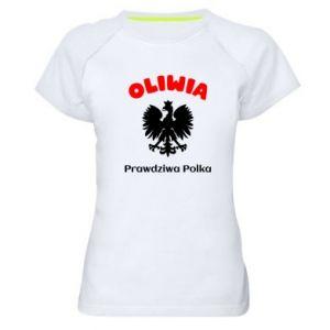 Damska koszulka sportowa Oliwia jest prawdziwą Polką