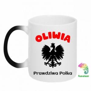 Kubek-kameleon Oliwia jest prawdziwą Polką