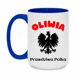 Two-toned mug 450ml Olivia is a real Pole