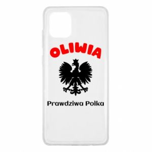 Phone case for Samsung A60 Olivia is a real Pole - PrintSalon