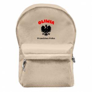 Plecak z przednią kieszenią Oliwia jest prawdziwą Polką