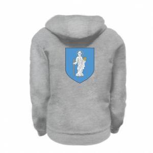 Kid's zipped hoodie % print% Olsztyn coat of arms