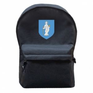 Backpack with front pocket Olsztyn coat of arms