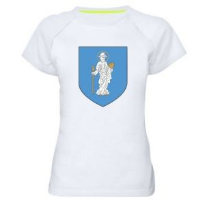 Women's sports t-shirt Olsztyn coat of arms