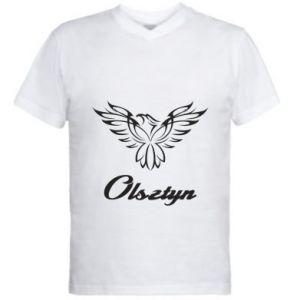 Męska koszulka V-neck Olsztyński ażurowy orzeł