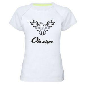 Damska koszulka sportowa Olsztyński ażurowy orzeł