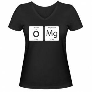 Damska koszulka V-neck Omg