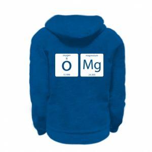 Kid's zipped hoodie % print% Omg