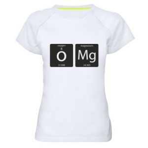 Women's sports t-shirt Omg