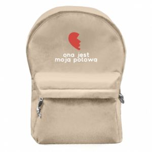 Backpack with front pocket She is my half