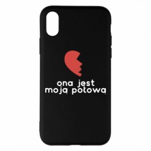 Phone case for iPhone X/Xs She is my half