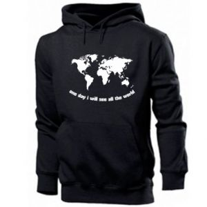 Men's hoodie One day i will see all the world
