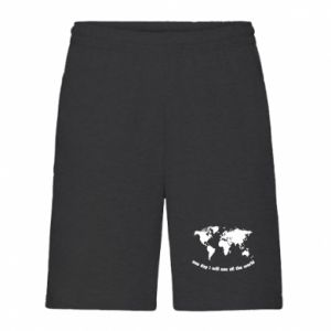 Men's shorts One day i will see all the world