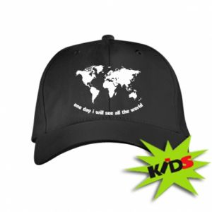 Kids' cap One day i will see all the world