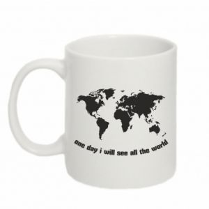 Mug 330ml One day i will see all the world