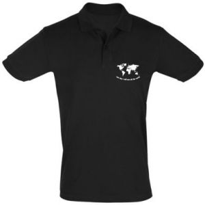 Men's Polo shirt One day i will see all the world