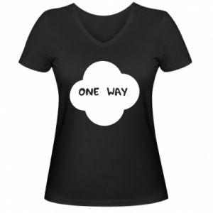 Damska koszulka V-neck One Way