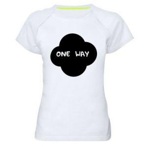 Damska koszulka sportowa One Way