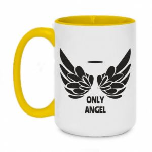 Two-toned mug 450ml Only angel