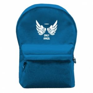 Backpack with front pocket Only angel