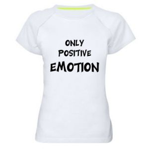 Damska koszulka sportowa Only positive emotion