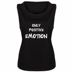 Damska koszulka bez rękawów Only positive emotion