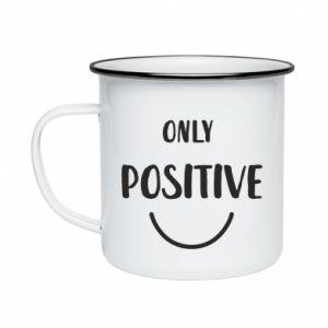 Kubek emaliowane Only  Positive!