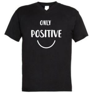 Męska koszulka V-neck Only  Positive!