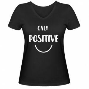 Damska koszulka V-neck Only  Positive!