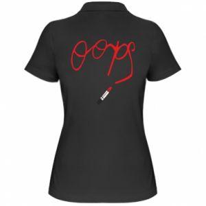 Women's Polo shirt Oops - PrintSalon