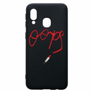 Phone case for Samsung A40 Oops